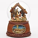 Christmas Nativity 100MM Musical Snow Globe Glitterdome - Plays Tune O'Holy Night by Roman