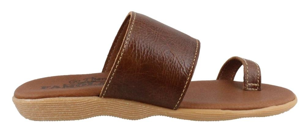 FAMOLARE Women's, Band and Deliver Sandals B074G57115 8 B(M) US|Earth