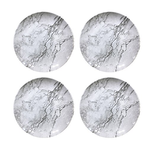 American Atelier 1184267-4D Marble Dinner Plate Set, 10 x 10