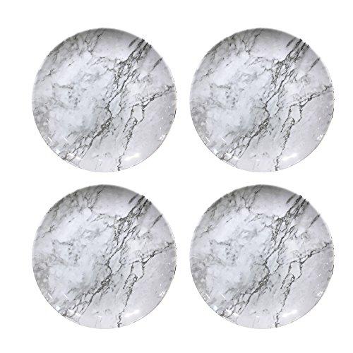 American Atelier 1184267-4D Marble Dinner Plate Set, 10 x 10