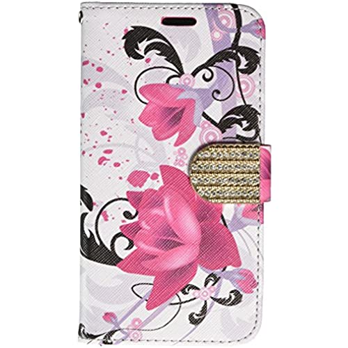 HR Wireless Cell Phone Case for Samsung Galaxy S7 G930 - Retail Packaging - Purple Lily Sales