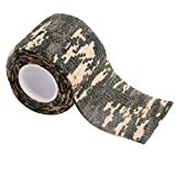 Gilroy 5CM X 4.5M Outdoor Camo Camouflage Wrap Tape for Hunting Rifle Gun Cycling Tool - Grey