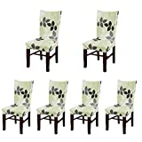 Deisy Dee Stretch Chair Cover Removable Washable for Hotel Dining Room Ceremony Chair Slipcovers Pack of 6 (A)