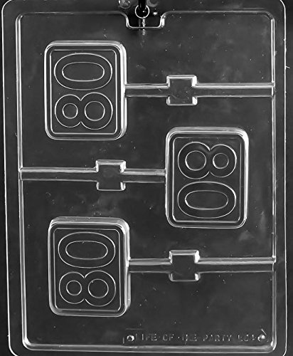 - Number Eighty 80 Birthday Lollipop Sucker Chocolate Mold Party Favors Ships Same Day m348