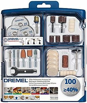 Dremel SC724 Kit de 150 Accesorios Variados - Juego de Accesorios para Herramienta Rotativa para Tallar, Fresar, Amolar, Limpiar, Pulir, Cortar, Lijar y Grabar: Amazon.es: Bricolaje y herramientas