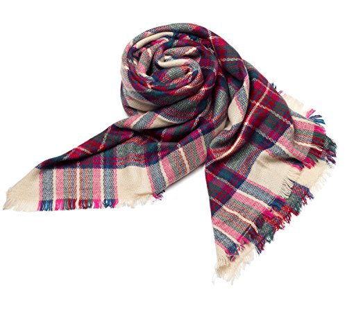 (Women's Stylish Warm Blanket Scarf Gorgeous Wrap Shawl Green)
