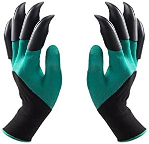 Garden Genie Gloves with Fingertips Claws Quick (Double Claw) for Rose Pruning –Best Gardening Tool -Best Gift for Gardeners-Great for Digging Weeding Seeding poking