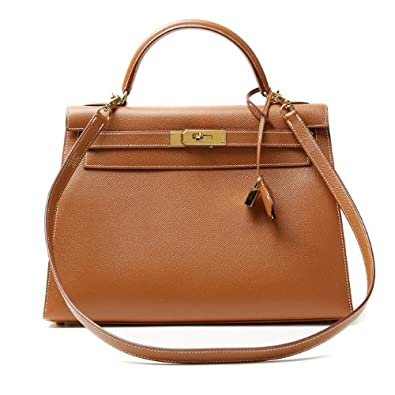 b69f407e82 Authentic Hermes Gold Epsom Leather 32cm Kelly Bag: Amazon.co.uk: Shoes &  Bags