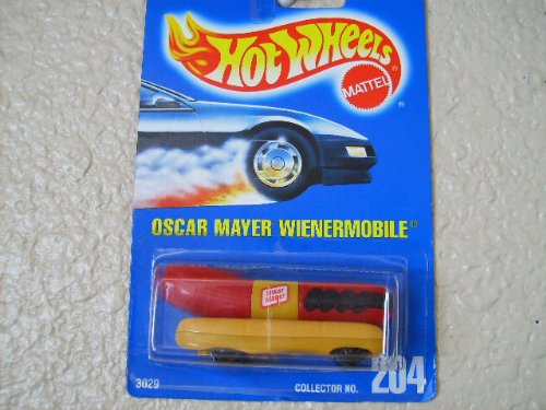 Hot Wheels Blue Card - Hot Wheels oscar mayer Wienermobile All Blue Card #204