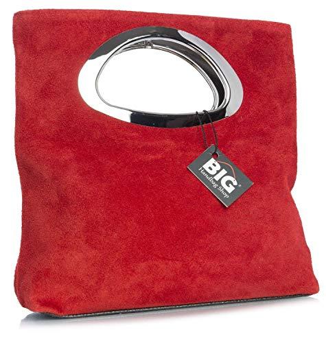 Superior Dama Asa Red LL478 Noche LxAxP Gamuzado de con BHBS Metal para cm Cuero en en Bolso 15x25x7 zSIZqwv