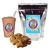 10+ Drinks Salted Caramel Boba Tea Kit: Tea Powder, Tapioca Pearls & Straws By Buddha Bubbles Boba