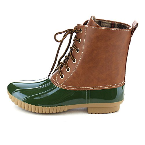 Olive Style Dylan Up Women's Tone Rain Calf Duck Lace Combat Two AXNY Boots nqR7OxFwSO