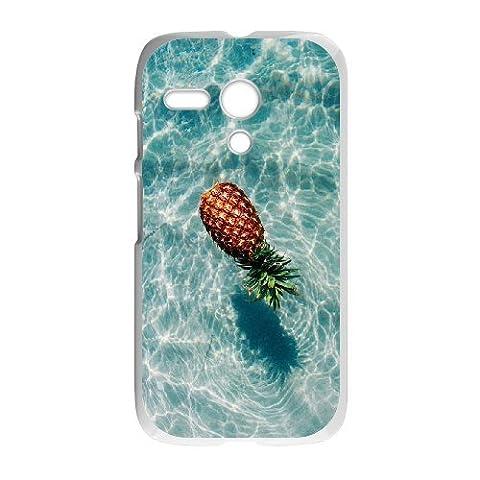 (Only for: Motorola G)Water pineapple custom Motorola G cover case phone shell,White (Water Cover Motorola)