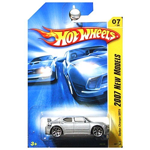 New Dodge Charger - 2007 New Models #7 Dodge Charger SRT8 Silver #2007-7 Collectible Collector Car Mattel Hot Wheels