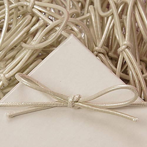 - 6 Inch Pearl White Stretch Loops (100)