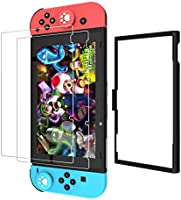 Switch Screen Protector with Application Tray, KIWIHOME 2 Pack Transparent HD Clear Tempered Glass Screen Protector with...