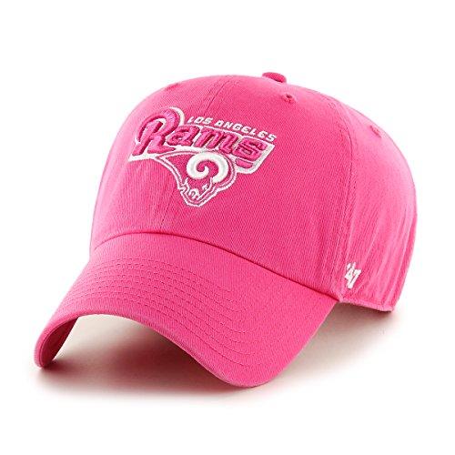 NFL Los Angeles Rams Women's Clean Up Adjustable Hat, Magenta