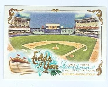 Cleveland Municipal Stadium baseball card (Indians Browns) 2014 Topps Allen Ginters #FOY-02