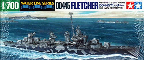 U.S.S. Fletcher DD445 Navy Destroyer 1-700 by Tamiya