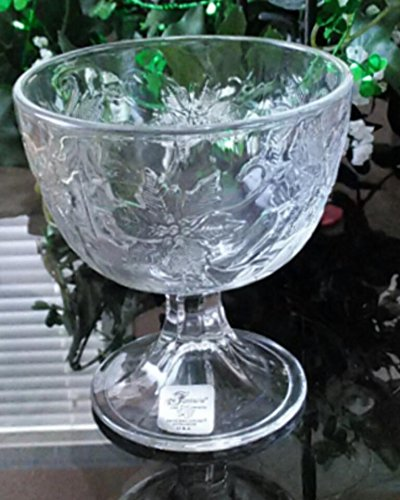 Princess House Crystal FANTASIA-CLEAR Footed Dessert Bowl(s) EXCELLENT