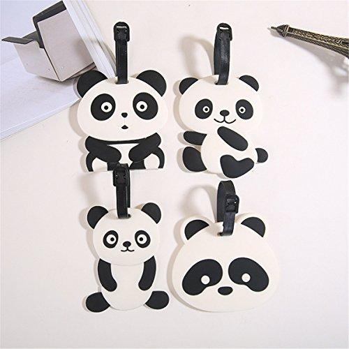 Pour emoji Pvc D'emoji Dos Le Panda étiquettes D'identification Voyage Bagage Voyage Porte De Sac À Valise 4pc Étiquettes 4pc D'étiquette P7Tqpx
