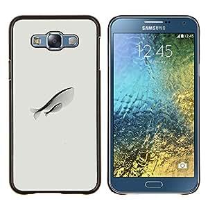 Planetar® ( Dibujo Pescado Mother Love Arte Moderno simplista ) Samsung Galaxy E7 E700 Fundas Cover Cubre Hard Case Cover