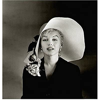 Marilyn Monroe Close Up Wearing Floppy Flowered Hat Smiling 8 x 10 Inch Photo