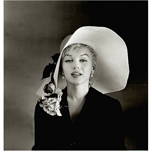 Marilyn Monroe 8 inch x 10 inch PHOTOGRAPH Large White Hat Large Shoulder Corsage kn (Shoulder Corsage)