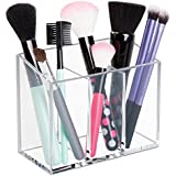 mDesign AFFIXX, Peel-and-Stick Adhesive Vanity Cosmetic Organizer for Hair Care, Jewelry, Bath, Q-Tip Holder, Makeup - 3 Compartment, Clear