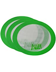 Silicone Alley, 3 Non-stick Mat Pad / Silicone Rolling Baking Pastry Mat Large Round 9.5 Green