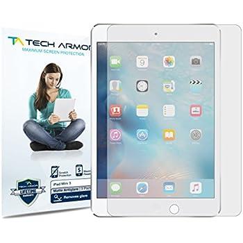 iPad Mini Screen Protector, Tech Armor Anti-Glare/Anti-Fingerprint Apple iPad Mini 1 / 2 / 3 Film Screen Protector [3-Pack]