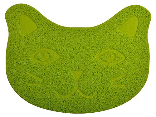 DM Small Cat Litter Box Debris Catcher Mat,Kitty Scatter Control Rug,16×12 Inches