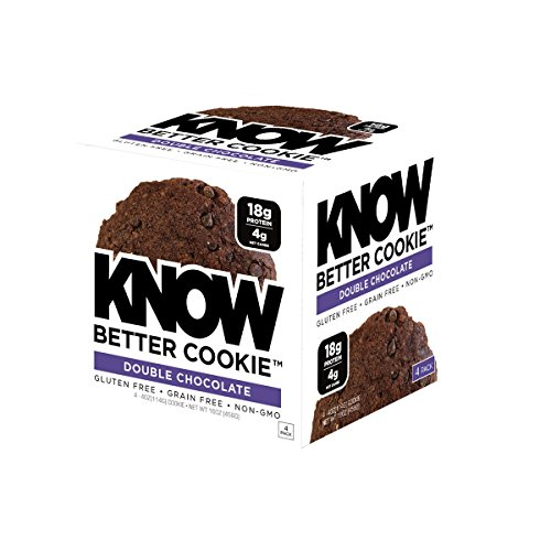 Know Foods Gluten Free  Low Carb  Protein Cookies  Double Chocolate Chip  4G Net Carbs   4 Count