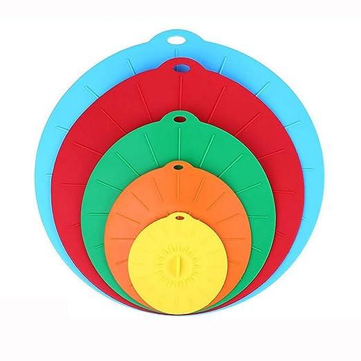 Tapas de Silicona, reutilizables Cubiertas para tazones de silicona succión para cuencos, ollas, tazas y cubiertas para alimentos de microondas Combo, ...