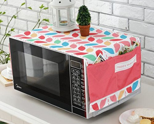 Polyester Fiber Household Pocket Microwave Oven Dust-Proof Cloth Cover (Style G) by lskitchen (Image #4)