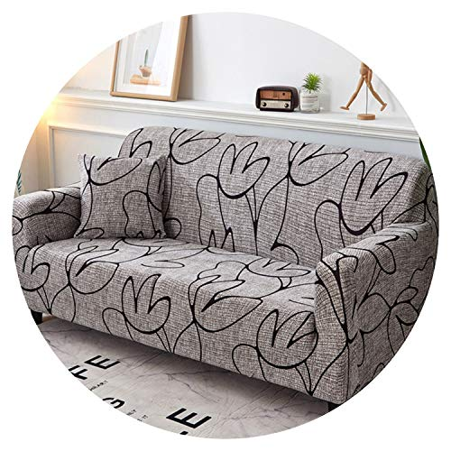 Black and White Sofa Cover Printed Couch Cover Polyester Bench Covers Elastic Stretchy Furniture Slipcovers Home Living Room,K085,AB 145-185cm