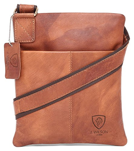 Hunter Tan Distressed Everyday Handmade 100 Work Pure Messenger Shoulder Leather Leather Vintage Bag Genuine Real Mens Crossover iPad BaAT4waqIc