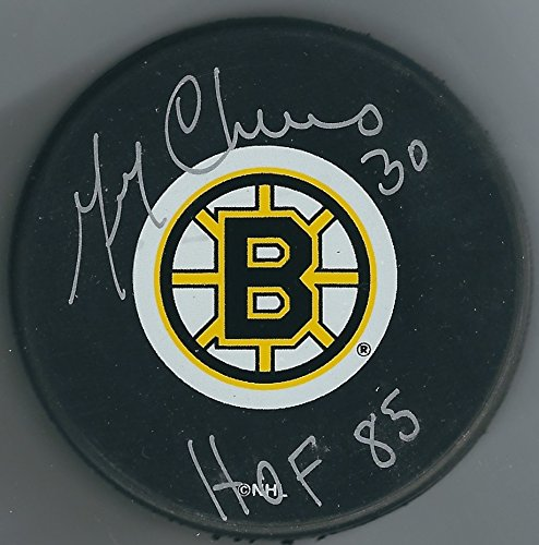 Signed Gerry Cheevers Boston Bruins Hockey Puck Certified Autograph