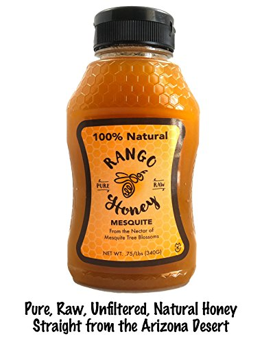 100% Unfiltered, Local, Natural Arizona Raw Honey - Squeeze Bottle (Mesquite)
