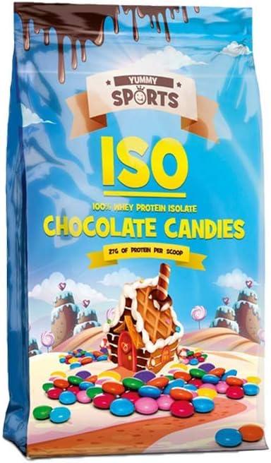 Yummy Sports Iso - Aislante de proteína de suero 100 % de proteína de suero, 2,2 libras, 33 porciones (Smartiez)