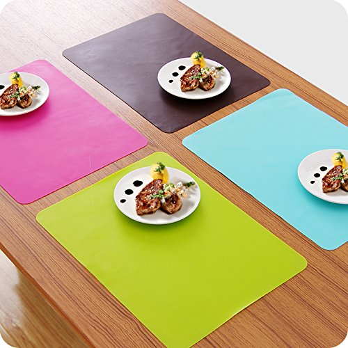 White M/&F Silicone Thicken Pure Color Heat Proof Non-Toxic Table Mat Dining Table Mat Baking Mat