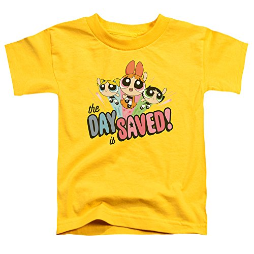 Trevco Powerpuff Girls The Day is Saved Pattern Unisex Toddler T Shirt for Boys and Girls ()