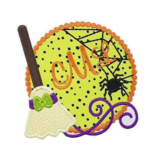 Halloween Monogram Patch- Iron on