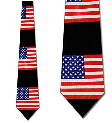 - Big Flags (Black) tie Mens Necktie
