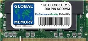 1GB DDR 333MHz PC2700 200-PIN SODIMM MEMORIA RAM PARA IBOOK G4 & ALUMINIO POWERBOOK G4