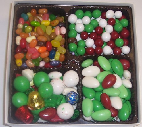 Scott's Cakes Large 4-Pack Deluxe Christmas Mix, Dutch Mints, Christmas Jordan Almonds, & Assorted Jelly Beans by Scott's Cakes