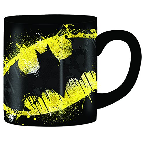 Silver Buffalo BN111032 DC Comics Batman Splatter Paint Logo Ceramic Mug, 14-Ounces