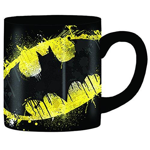 Silver Buffalo BN111032 DC Comics Batman Splatter Paint Logo Ceramic Mug, -