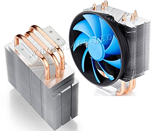 Led World Heat Sink 3 copper pipe + Fan + 44mm Lens For 20W 50W -150W High Power LED by Led World