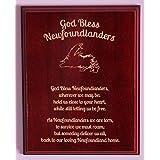 """""""God Bless Newfoundlanders"""" 5""""x7"""" Mahogany Veneer Plaque"""